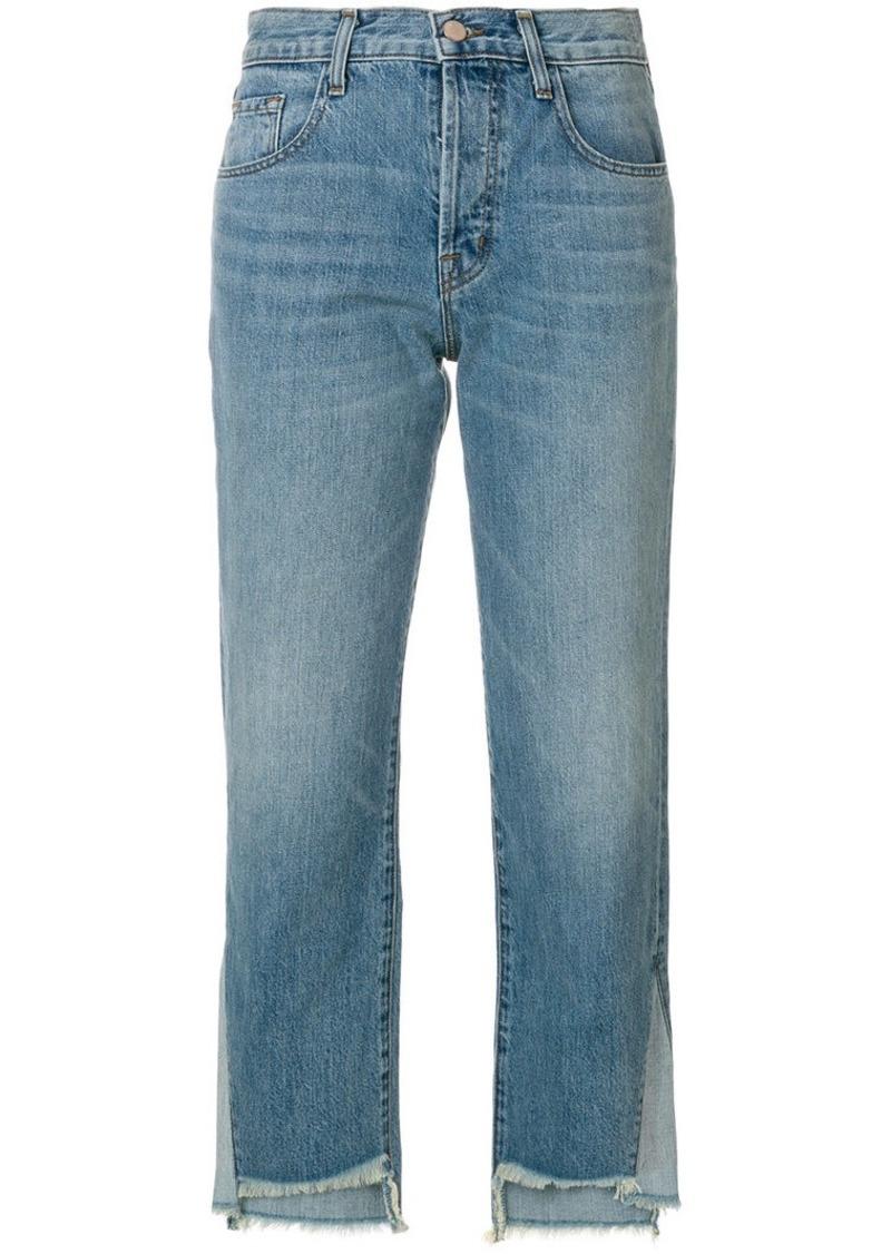 J Brand asymmetric cropped jeans