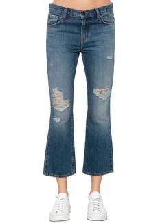 J Brand Aubrie Boot Cut Cropped Denim Jeans