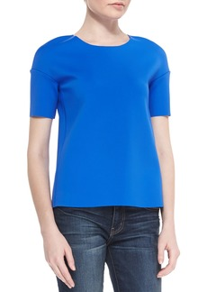 J Brand Auden Short-Sleeve Knit Top