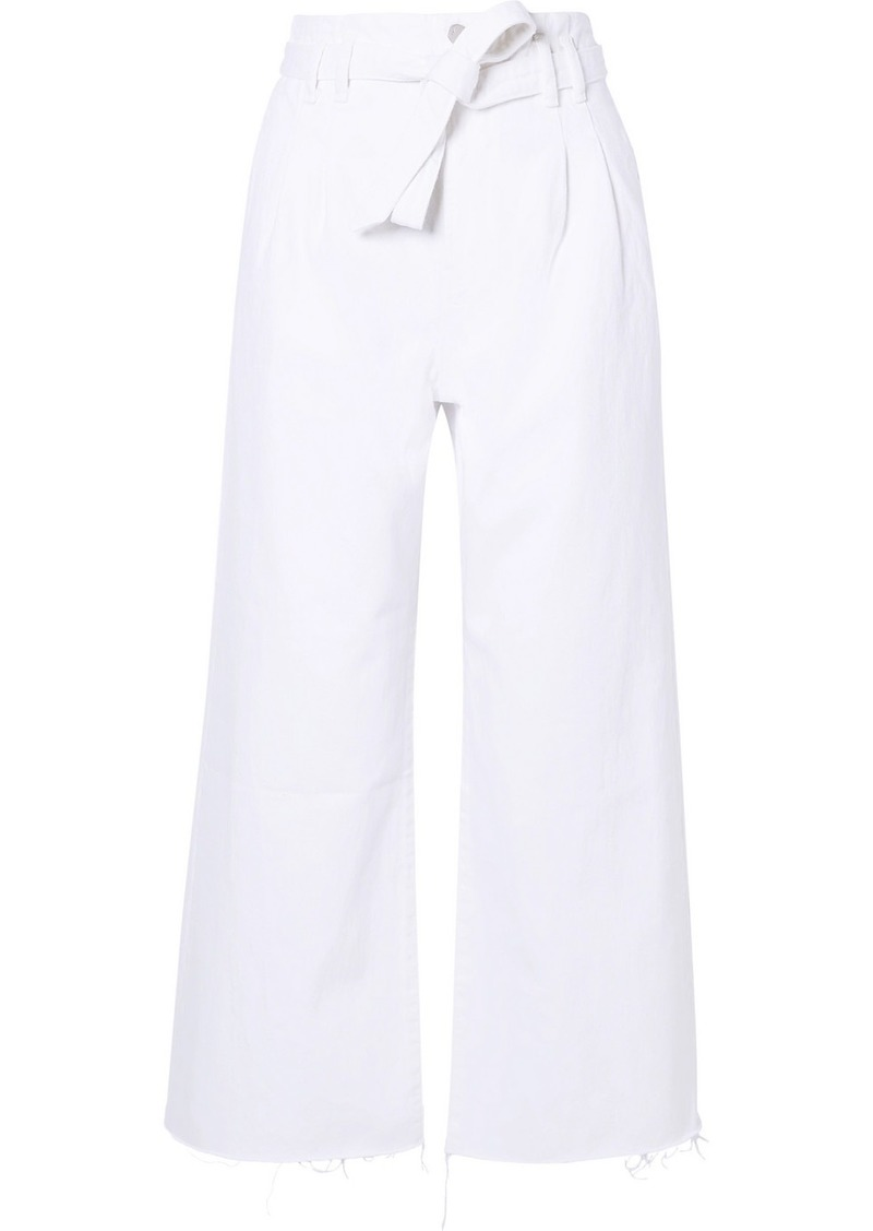 J Brand Belted High-rise Wide-leg Jeans