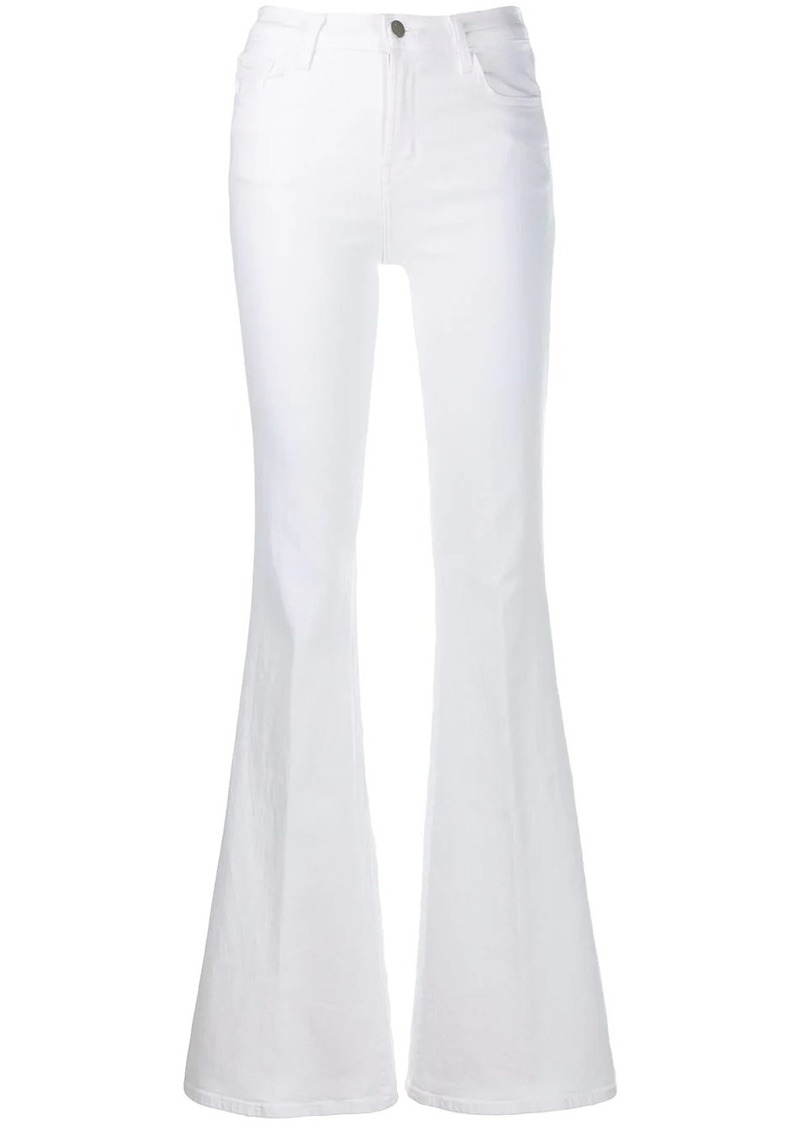 J Brand belted straight leg jeans