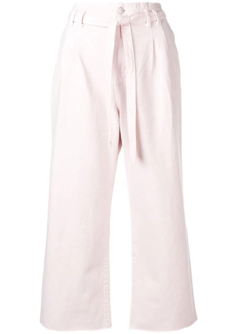 J Brand belted wide-leg jeans