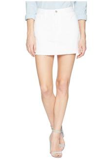 J Brand Bonny Mid-Rise Mini Skirt in White