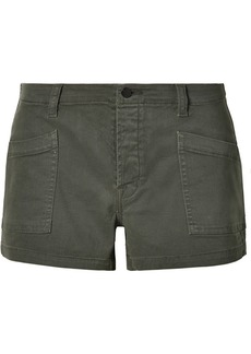 J Brand Brona Cotton-blend Twill Shorts