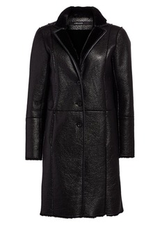 J Brand Charlette Faux Leather & Faux Shearling Overcoat