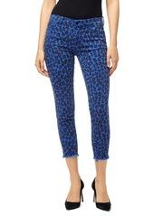 J Brand Cheetah-Print Mid-Rise Crop Skinny Jeans