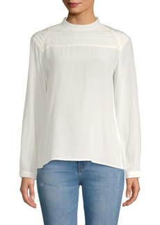 J Brand Chrystal Pleated Blouse