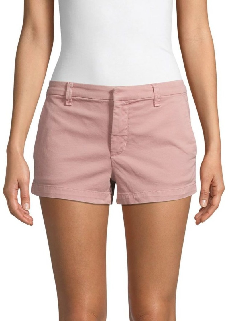 J Brand Clara Cotton Blend Mid-Rise Shorts