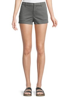 J Brand Clara Mid-rise Luxe Twill Shorts