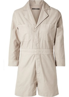 J Brand Cotton-canvas Playsuit