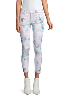 J Brand Crop Skinny 3D Pattern Jeans