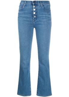 J Brand cropped bell leg jeans
