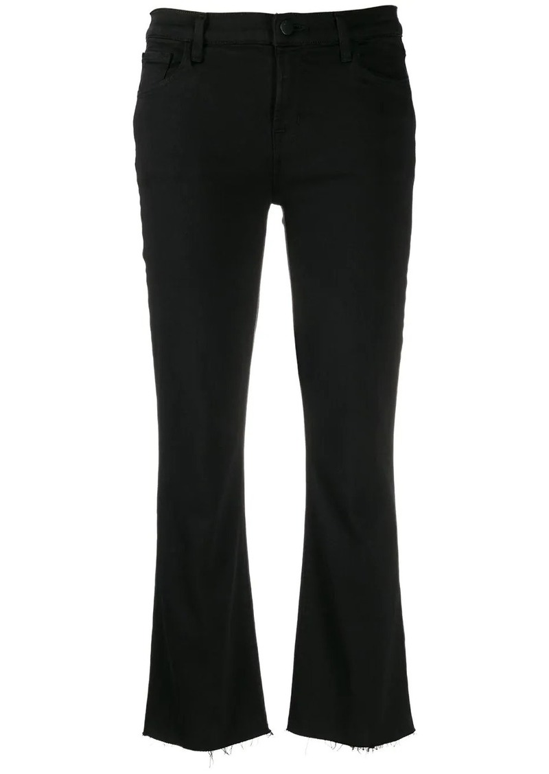 J Brand cropped bootcut trousers