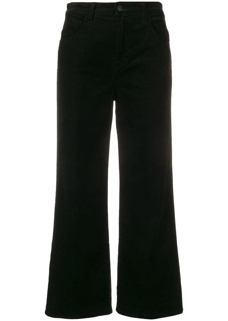 J Brand cropped corduroy trousers