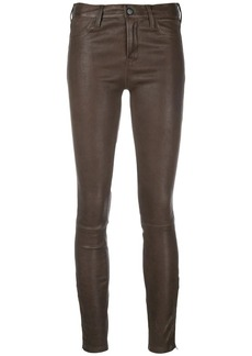 J Brand cropped skinny leather trousers