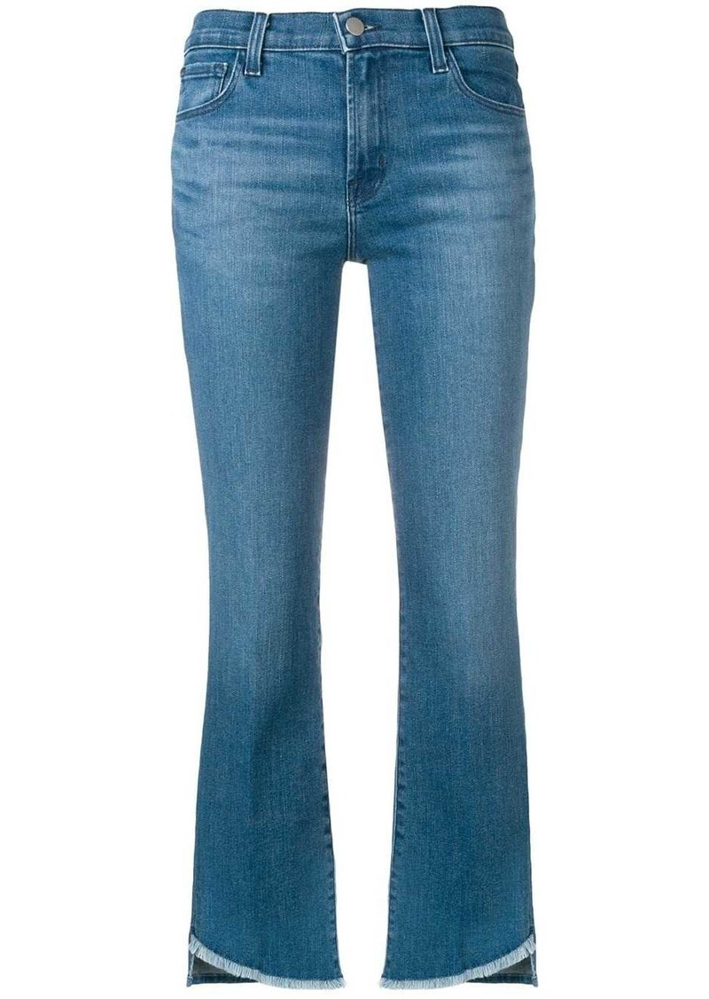 J Brand cropped slim-fit jeans