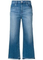 J Brand cropped unfinished hem jeans