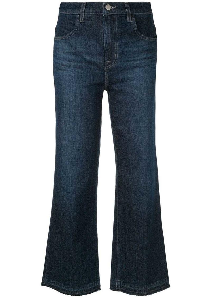 J Brand cropped wide leg jeans