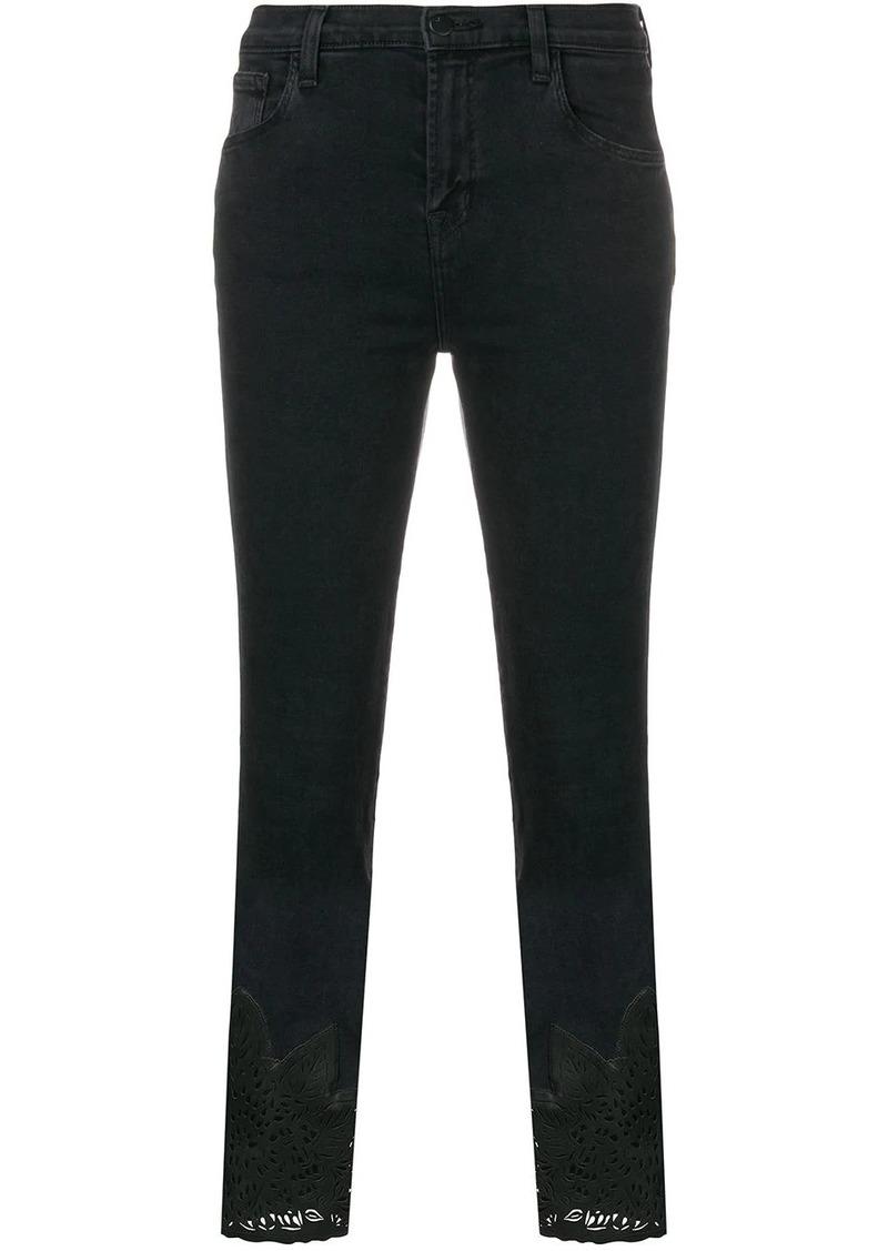 J Brand cut-out cuff skinny jeans