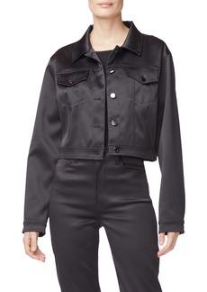J Brand Cyra Cropped Sateen Jacket