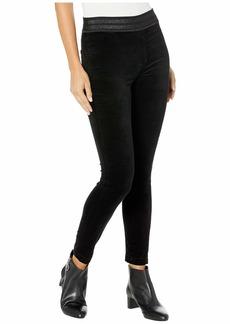 J Brand Dellah High-Rise Leggings in Black Velvet