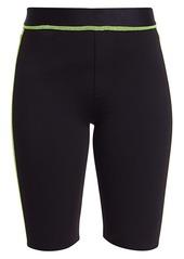 J Brand Dellah Neon Stitch Biker Shorts