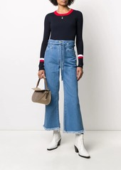 J Brand denim high waisted cropped jeans