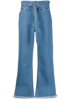 J Brand denim high waisted cropped jeans