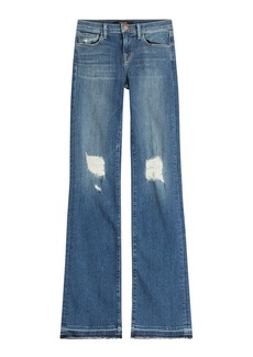 J Brand Distressed Flared Jeans