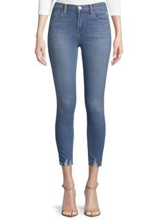 Distressed Stretch Crop Jeans