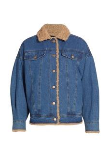 J Brand Drew Faux Fur-Lined Jacket