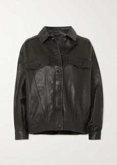 J Brand Drew Oversized Leather Jacket