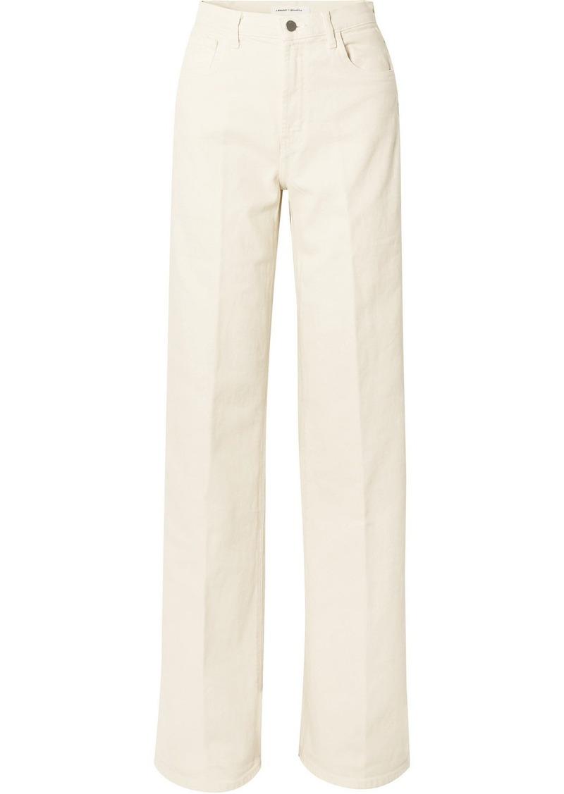 J Brand Elsa Hosk Monday High-rise Wide-leg Jeans