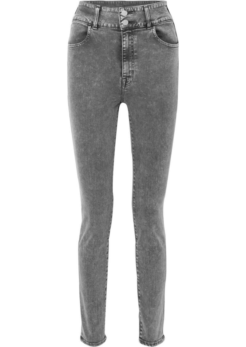 J Brand elsa Hosk Saturday High-rise Skinny Jeans