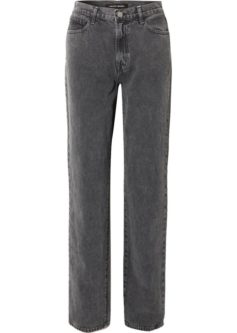 J Brand Elsa Hosk Sunday Mid-rise Straight-leg Jeans