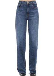 J Brand Elsa Monday Wide Leg Cotton Denim Jeans