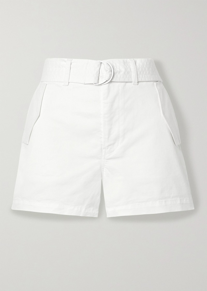 J Brand Evia Surplus Belted Cotton-blend Twill Shorts