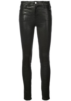 J Brand fitted leather trousers