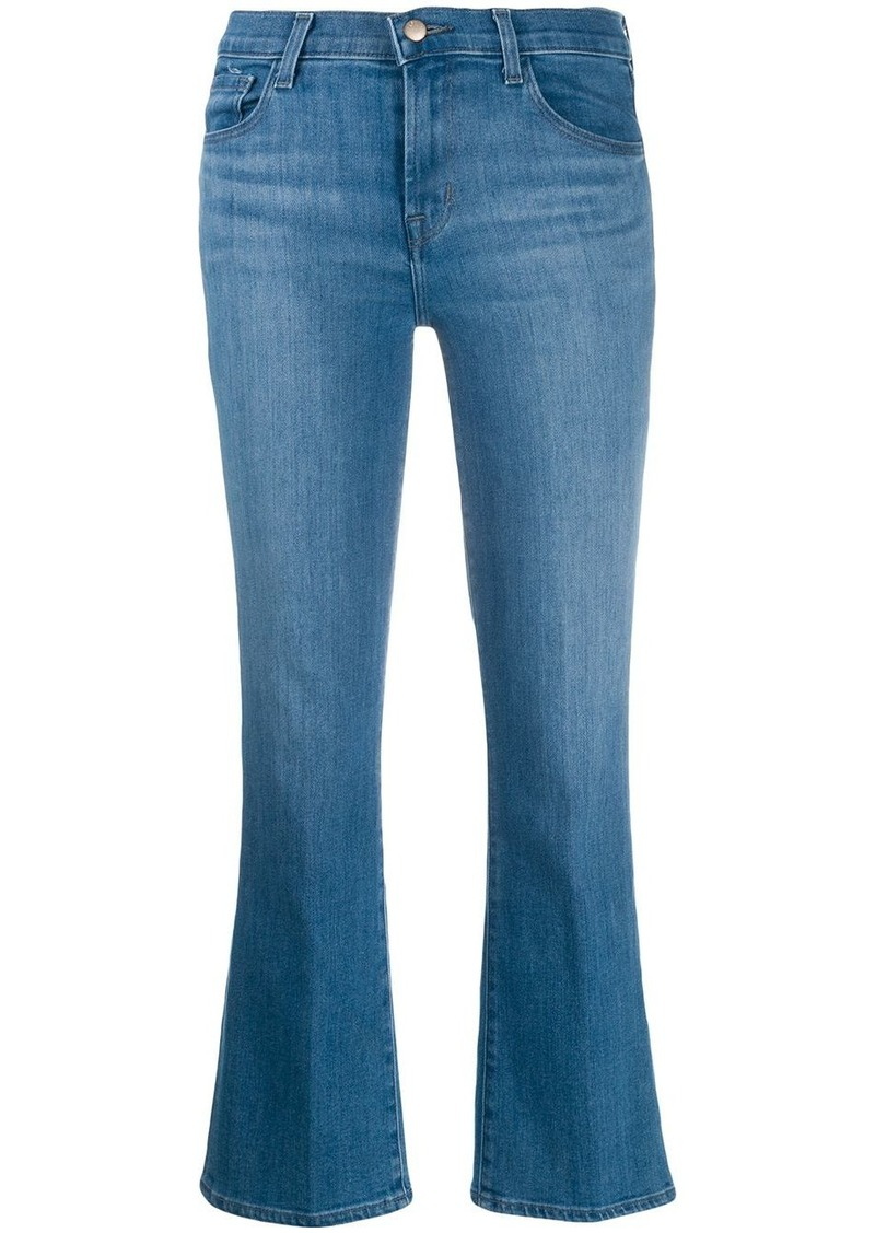 J Brand flared cropped jeans