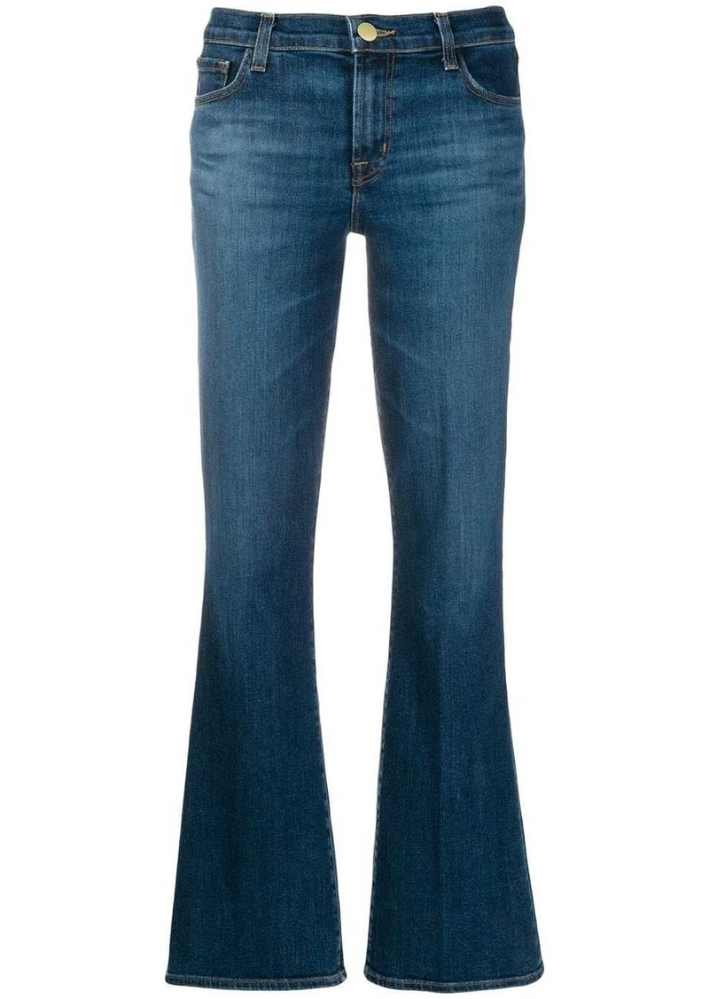 J Brand flared denim trousers
