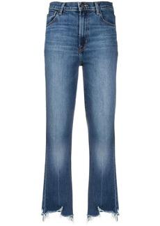 J Brand frayed cropped jeans