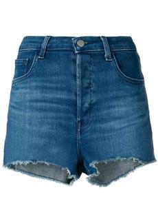 J Brand frayed edges denim shorts