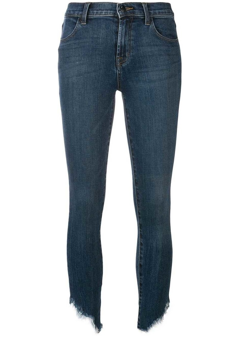 J Brand frayed skinny jeans