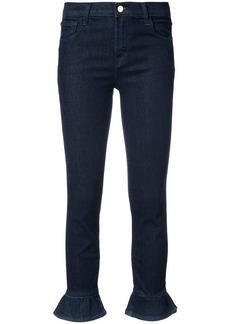 J Brand frilled hem skinny jeans