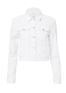 J Brand Harlow White Shrunken Jacket