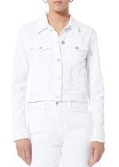 J Brand Harlow White Shrunken Jacket