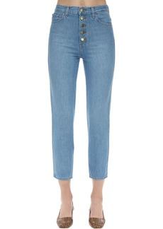 J Brand Heather High Rise Cotton Denim Jeans