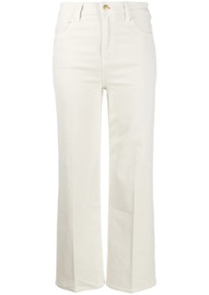 J Brand high waisted cropped corduroy trousers