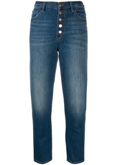 J Brand high waisted cropped denim jeans
