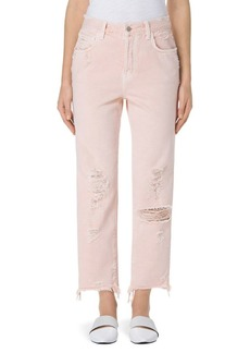 Ivy High-Rise Cropped Straight-Leg Jeans